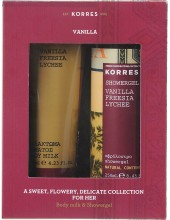 KORRES Gift Set Vanilla Freesia Lychee Showergel 250ml + Body Milk 125ml