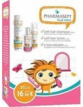 PHARMASEPT Kid Care Girl Set with Soft Hair Shampoo 300ml + Soft Hait Lotion 150ml + X-Lice Cologne 100ml