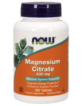 NOW Magnesium Citrate 200mg 100 Tabs