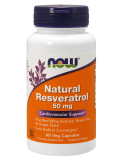 NOW Natural Resveratrol 50mg 60 Veg.Caps