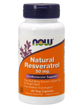 NOW Natural Resveratrol 50mg 60 Veg.Caps