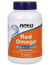 NOW Red Omega with CoQ10 30mg & Omega-3 Fish Oil 90 softgels