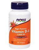 NOW Vitamin D-3 1000 IU High Potency 180 Softgels