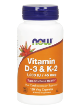 NOW Vitamin D-3 & K-2 1000 IU / 45mcg 120 Vcaps