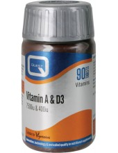 QUEST Vitamin A&D 7500IU+400IU 90 Caps