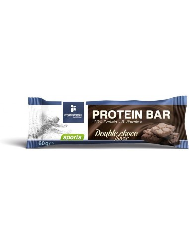MY ELEMENTS Sports Protein Bar Double Choco Flavor 60g