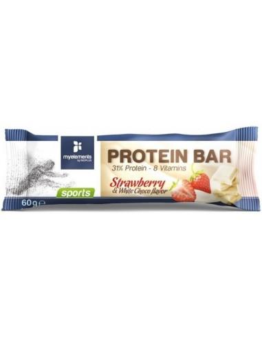 MY ELEMENTS Sports Protein Bar Strawberry & White Choco Flavor 60g