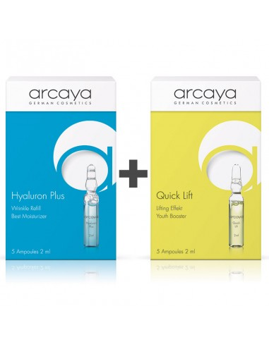 ARCAYA Ampoules Mix Duo: Hyaluron Plus, 5x2ml + Quick Lift, 5x2ml