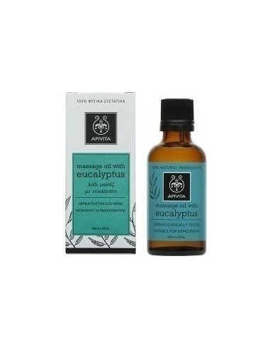 APIVITA Natural Oil Massage Oil with Eucalyptus 50ml