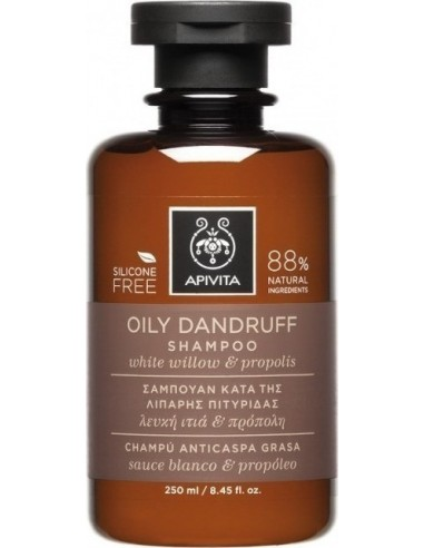 APIVITA Oily Dandruff Shampoo with White Willow & Propolis 250ml
