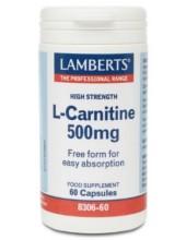LAMBERTS L-Carnitine High Strength 500mg 60 Caps