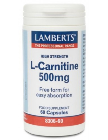 LAMBERTS L-Carnitine High Strength 500mg 60 Caps
