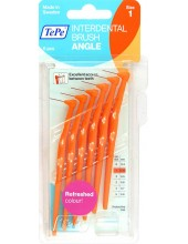 TEPE Interdental Brush Angle 0.45 mm Πορτοκαλί 6 pcs