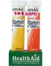 HEALTH AID Vitamin C Lemon 1000mg 20 tabs + Vitamin C 1000mg Orange 20 tabs