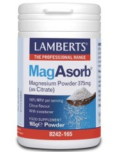 LAMBERTS MagAsorb (as Citrate-κιτρικό μαγνήσιο) Powder 165gr