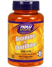 NOW L-Arginine & Ornithine 500mg / 250mg 100 Caps