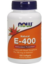 NOW Vitamin E-400 IU 100 Softgels