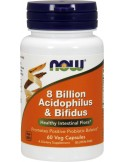 NOW 8 Billion Acidophilus & Bifidus Veg 60 Veg Caps