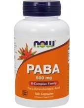 NOW PABA 500 mg 100 Caps