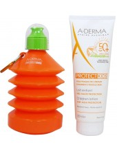 A-DERMA PROTECT Kids Lait Enfants Tres Haute Protection SPF 50+ 250ml & Δώρο Παγούρι