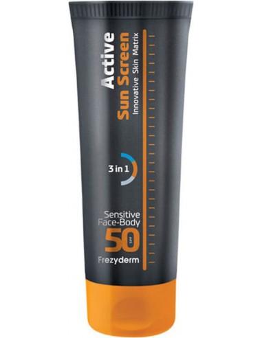 FREZYDERM Active SunScreen Sensitive Face& Body SPF 50 150ml