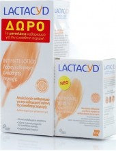 LACTACYD Intimate Washing Lotion 300ml + ΔΩΡΟ Intimate Wipes 10 pcs