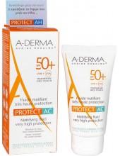 A-DERMA PROTECT AC Fluide Matifiant Tres Haute Protection SPF50+ 40ml