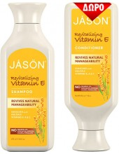JASON Revitalizing Vitamin E Shampoo 473ml & ΔΩΡΟ Conditioner 473ml