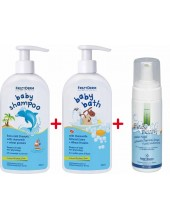 FREZYDERM Baby Shampoo 300ml + Baby Bath 300ml + Baby Foam 150ml