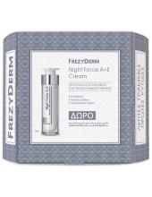FREZYDERM Night Force A+E Cream 50ml ΣΕΤ με δώρο Active Block A+E 15ml & Eye Balm 5ml