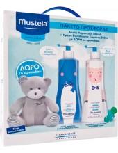 MUSTELA Limited Box: Cleansing Gel 500ml & Hydra Bebe Lotion 500ml με Δώρο Αρκουδάκι