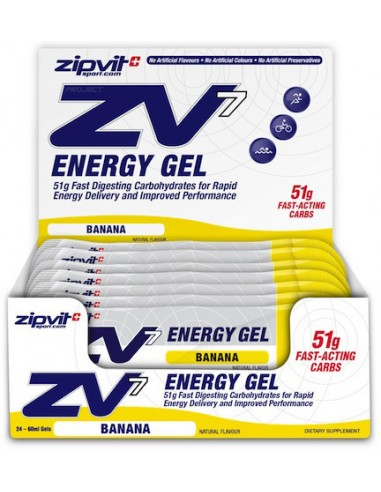 ZIPVIT ZV7 Energy Gel Banana 24 x 60ml
