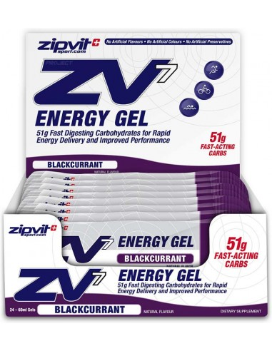 ZIPVIT ZV7 Energy Gel Blackcurrant 24 x 60ml
