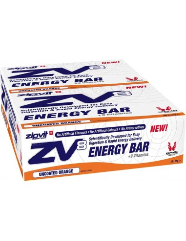 ZIPVIT ZV8 Energy Bar Uncoated Orange 20 x 55ml