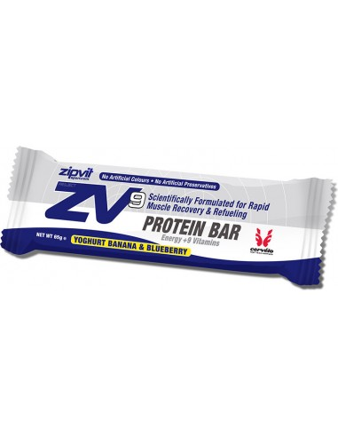ZIPVIT ZV9 Protein Recovery Bar Banana Blueberry 65gr