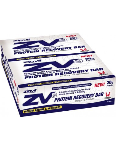 ZIPVIT ZV9 Protein Recovery Bar Banana Blueberry 15 x 65gr