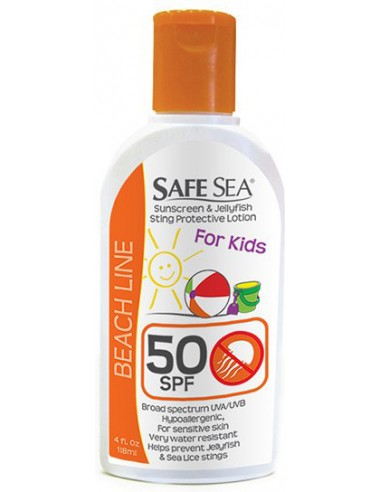 SAFE SEA Beach Line Sunscreen & Jellyfish Sting Protective Lotion For Kids SPF50 118ml