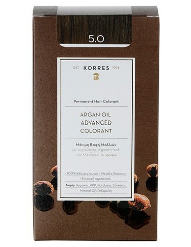 KORRES Argan Oil Advanced Colorant 5.0 Καστανό Ανοιχτό, 50ml