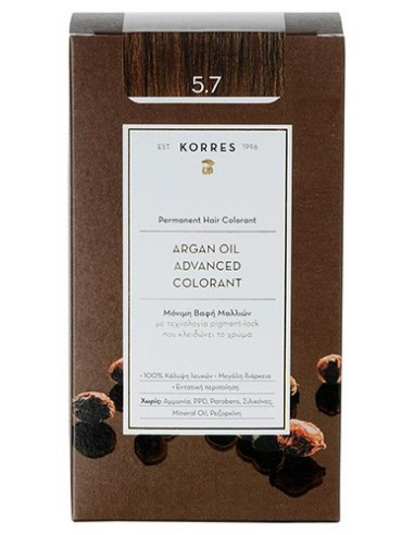 KORRES Argan Oil Advanced Colorant  5.7 Σοκολατί, 50ml