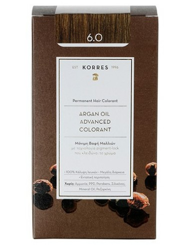 KORRES Argan Oil Advanced Colorant 6.0 Ξανθό Σκούρο, 50ml