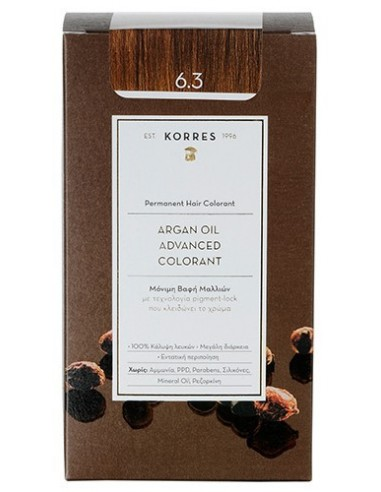 KORRES Argan Oil Advanced Colorant 6.3 Ξανθό Σκούρο Μελί, 50ml