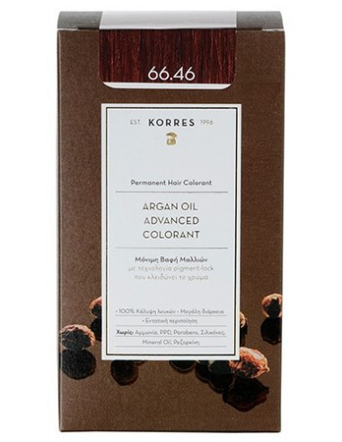 KORRES Argan Oil Advanced Colorant 66.46 Έντονο Κόκκινο Βουργουνδίας, 50ml