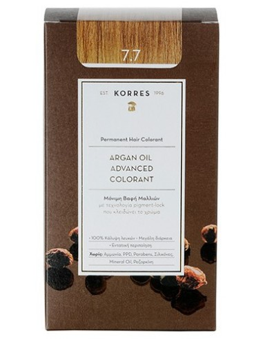 KORRES Argan Oil Advanced Colorant 7.7 Μόκα, 50ml