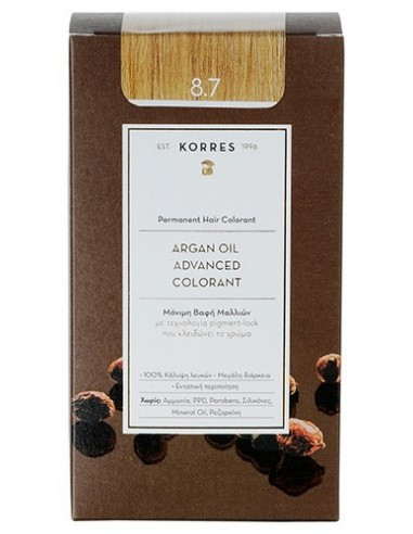 KORRES ARGAN OIL ADVANCED COLORANT  8.7 ΚΑΡΑΜΕΛΑ