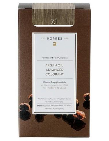 KORRES Argan Oil Advanced Colorant 7.1 Ξανθό Σαντρέ, 50ml