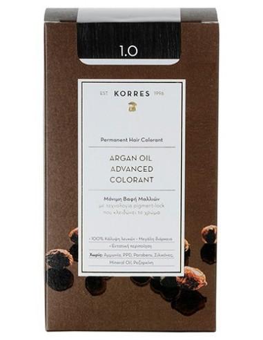 KORRES Argan Oil Advanced Colorant 1.0 Μαύρο, 50ml