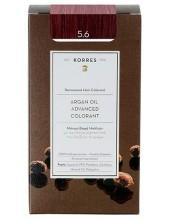 KORRES Argan Oil Advanced Colorant 5.6 Καστανό Ανοικτό Κόκκινο, 50ml