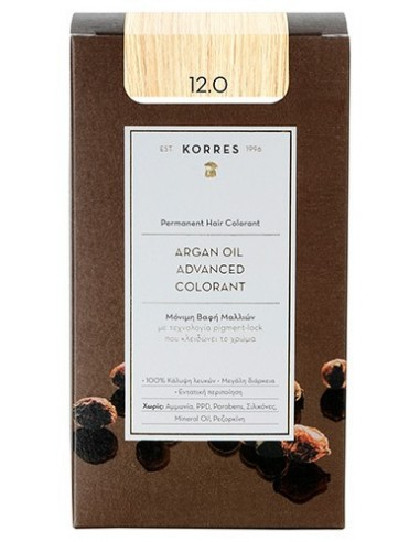 KORRES Argan Oil Advanced Colorant 12.0 Ξανθό Special Blonde, 50ml