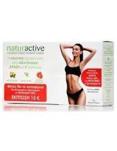 NATURACTIVE Πακέτο για Αδυνάτισμα με τρείς τρόπους: Detox 15 φάκελοι 10ml, Πράσινο Τσάϊ 60 κάψουλες, Πηκτίνη Μήλου 30 κάψουλες