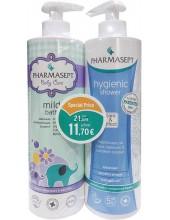PHARMASEPT Baby Care Milk Bath 500ml & Hygienic Shower 500ml Special Price